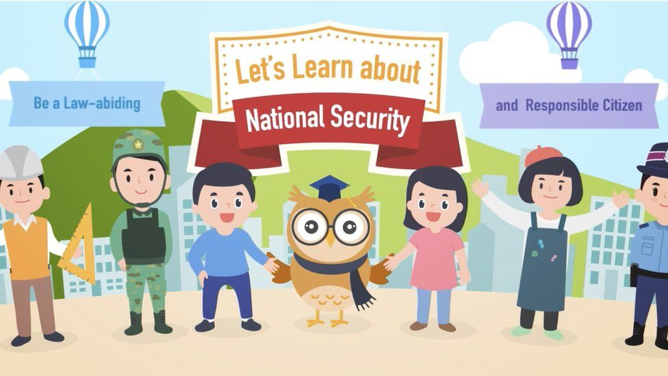 An image taken from Hong Kong education on the National Security Law