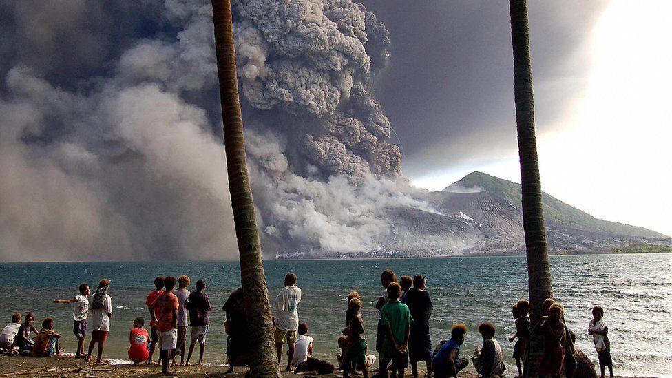 Eruption of Tavurvur volcano