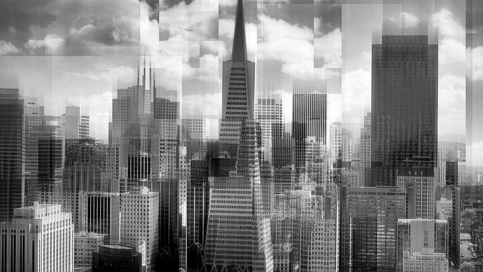 "A photo of buildings titled ""San Francisco impression"" - voted first in Advanced Open Print and overall Best Print"