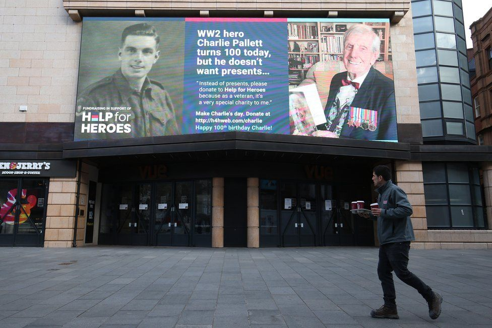 Billboard for Charlie Pallett in London's Leicester Square