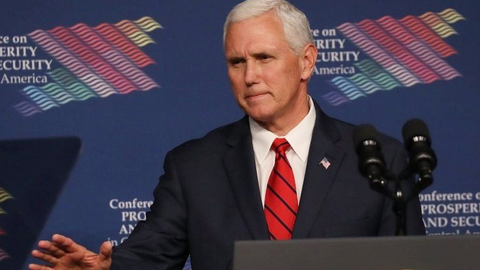 US Vice-President Mike Pence. Photo: 15 June 2017