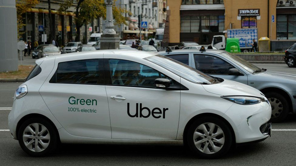An Uber car in Kiev