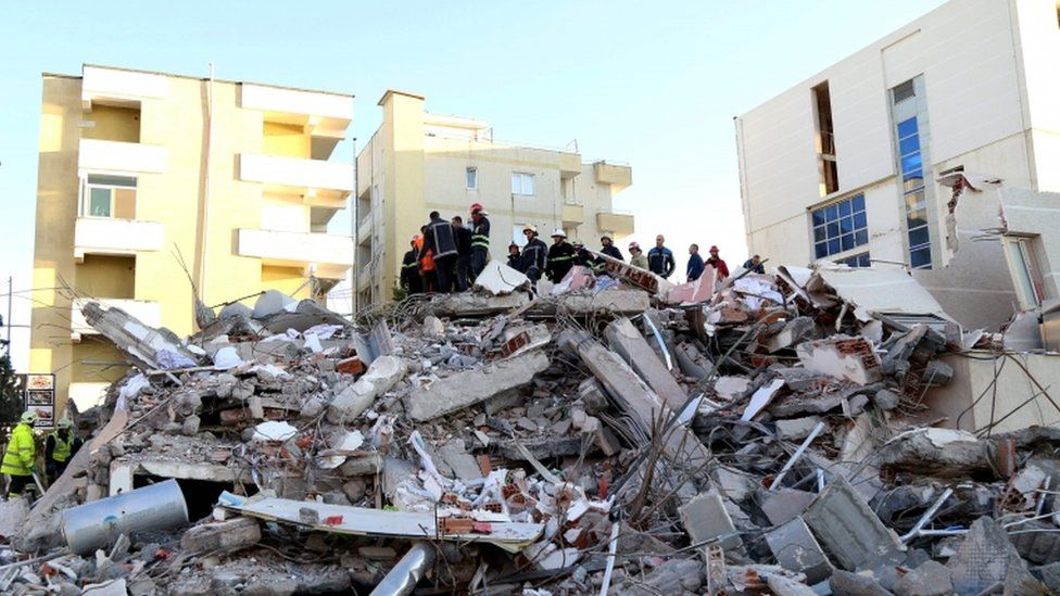 The city of Durres was badly hit by the earthquake