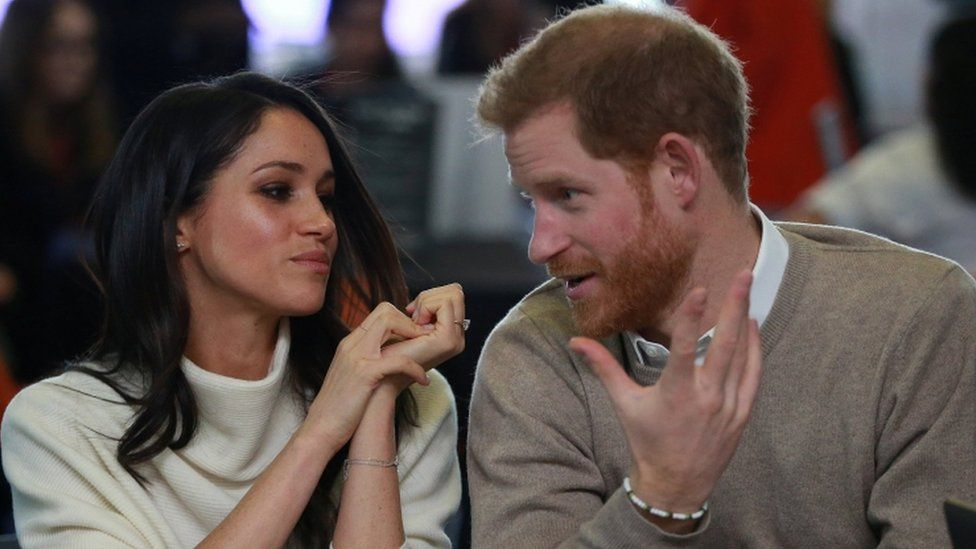 Meghan Markle and Prince Harry in Birmingham on 8 March 2018