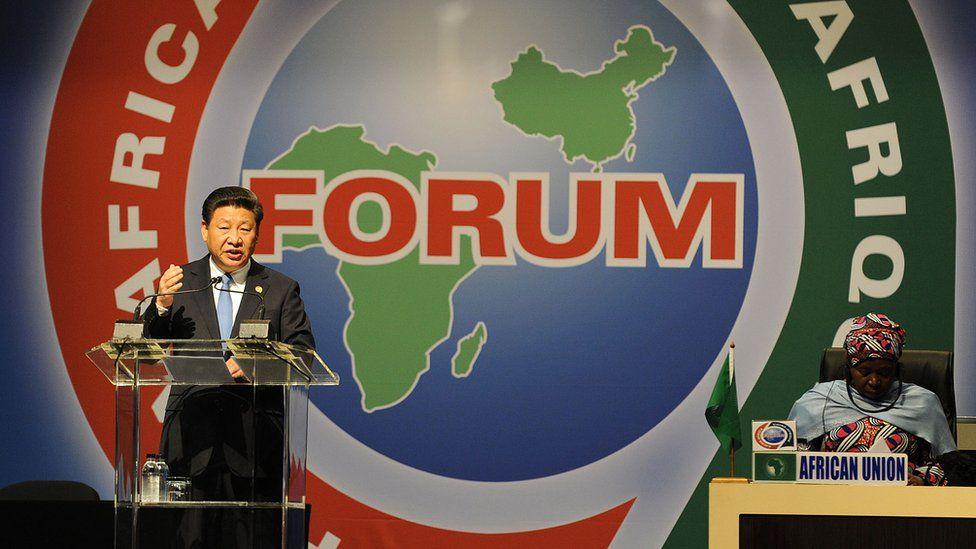President Xi addresses the forum. 4 Dec 2015