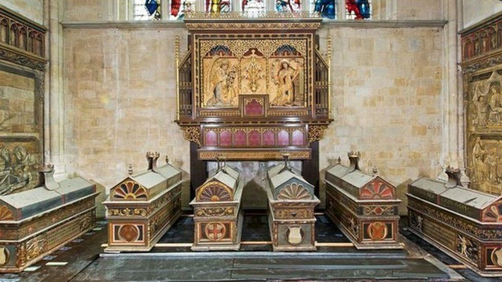 Mortuary chests at Winchester Cathedral