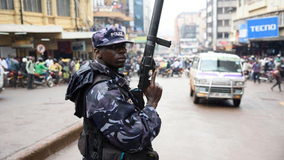 Policeman in Kampala (archive shot)