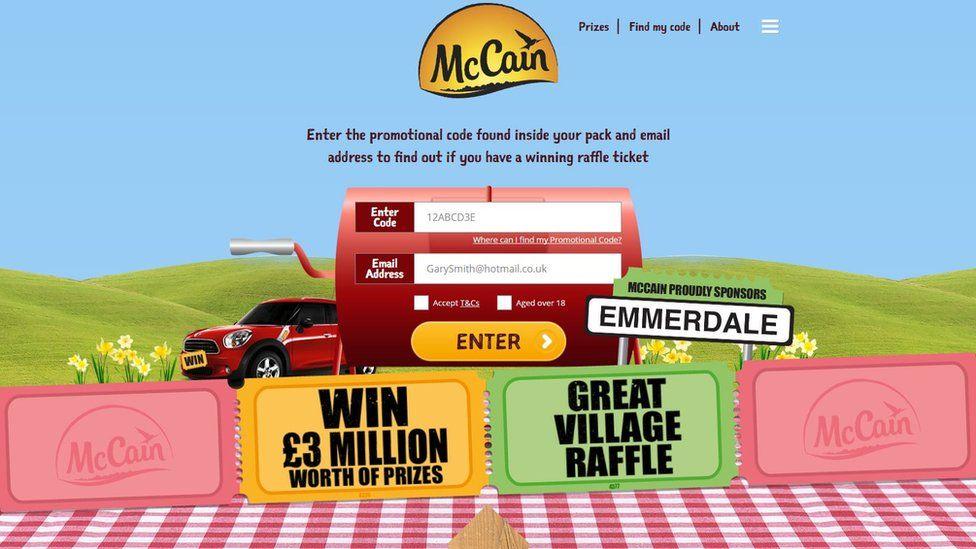 McCain website