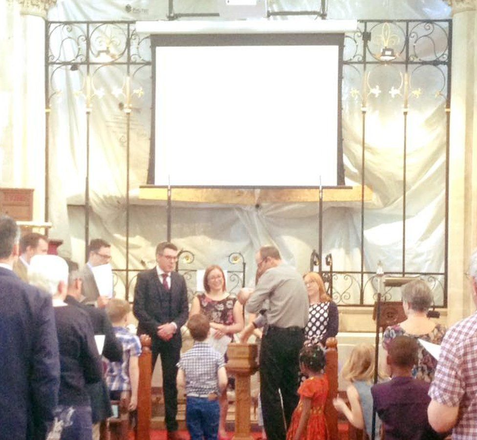 Service held at St John's Church, Elmswell