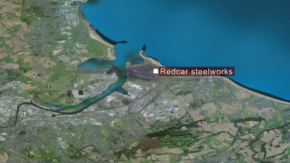 Map of steelworks