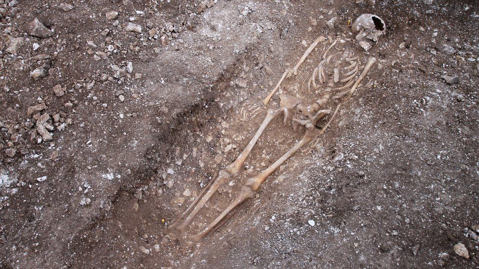 Skeleton discovered on the South Downs