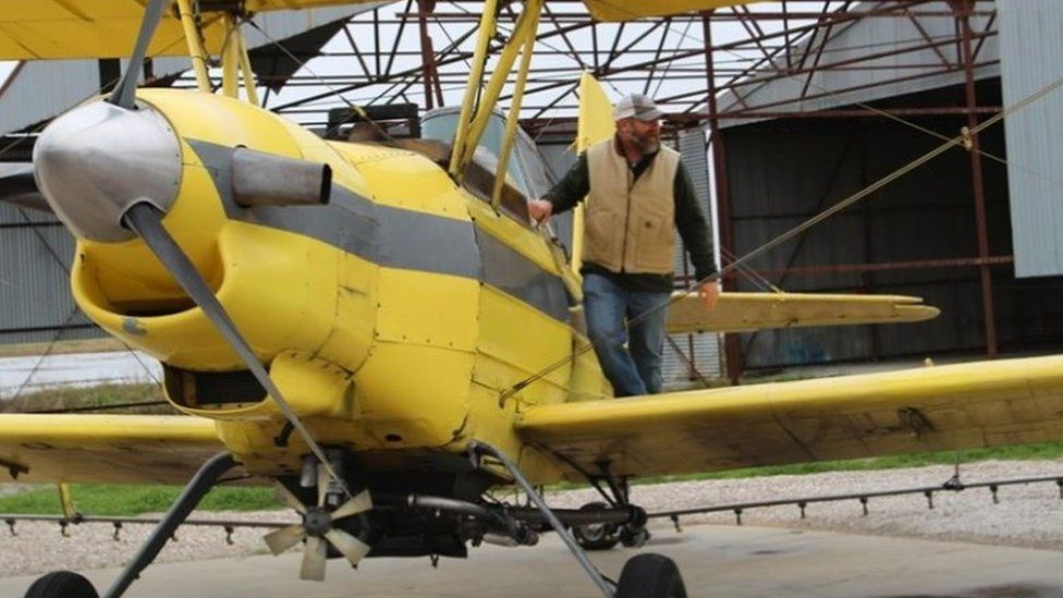 Crop-dusting plane used to sprinkle holy water in Louisiana