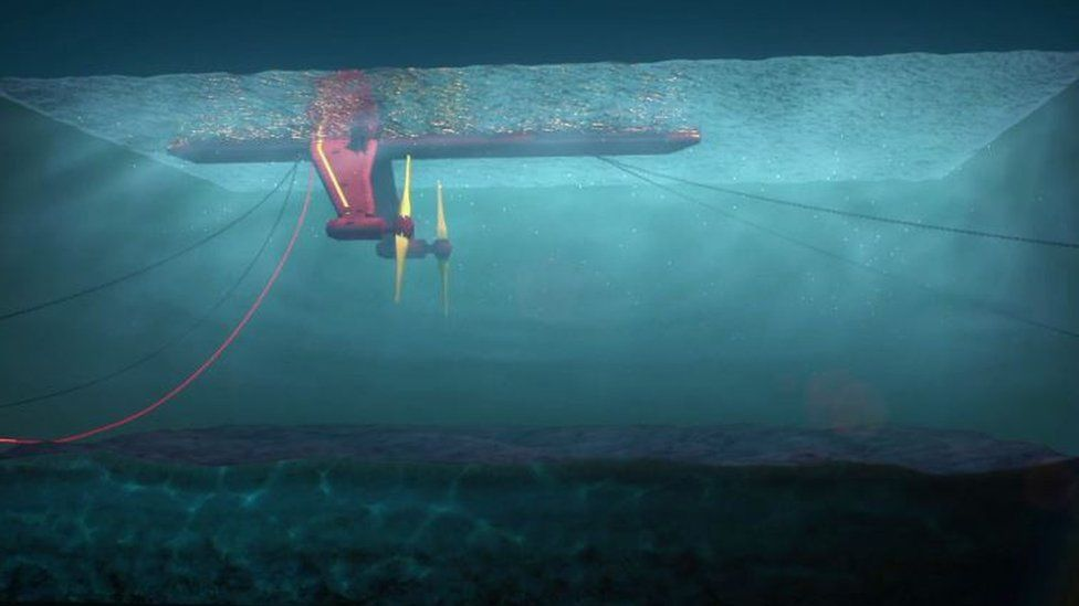 Orkney tidal turbine generating 'phenomenal result' - BBC News