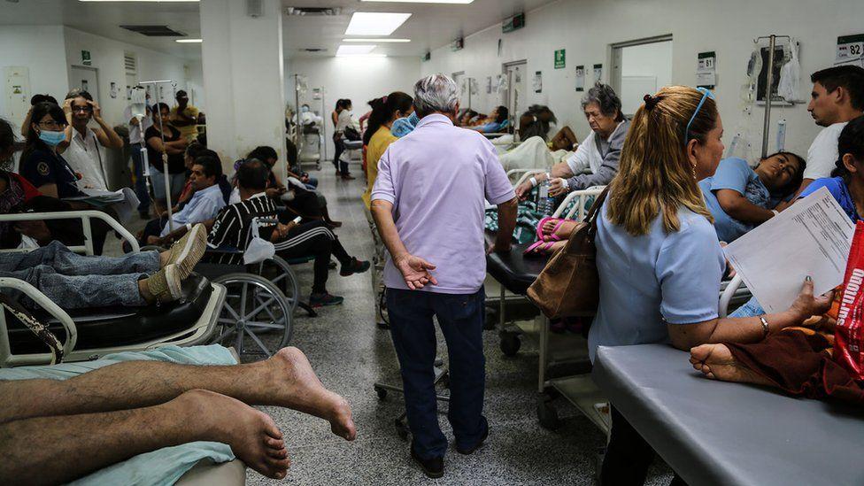 Hospital em Cúcuta lotado