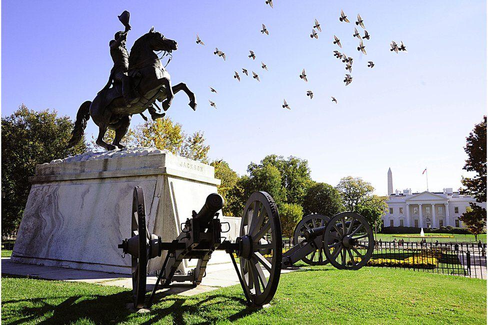 Andrew Jackson statue in Lafayette Square