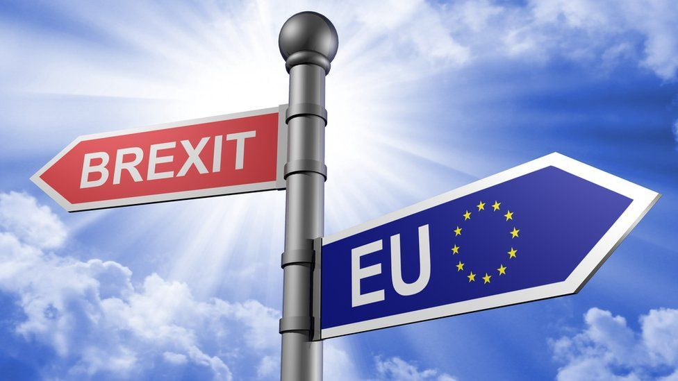 Brexit and EU signs