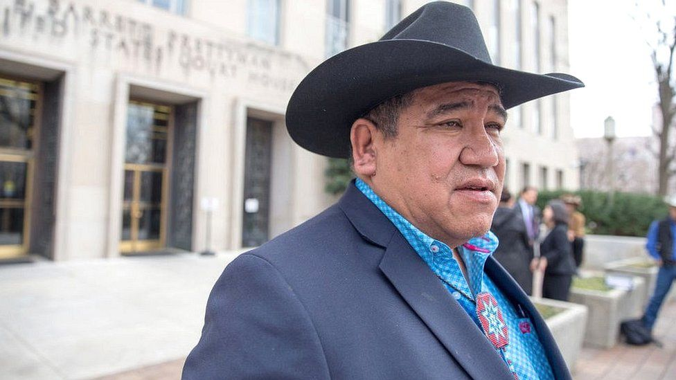 File picture of Harold Frazier, chairman of the Cheyenne River Sioux Tribe