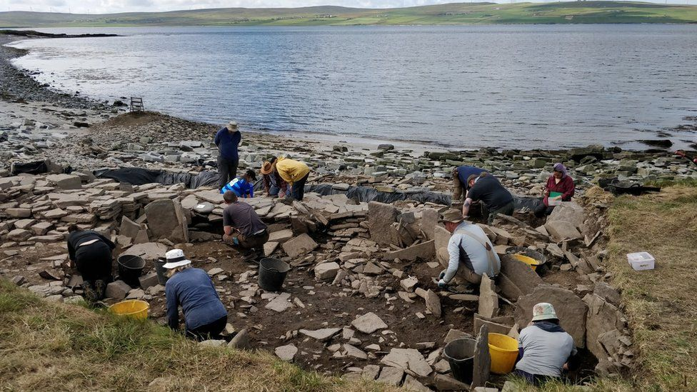 Archaeologists dig at Swandro