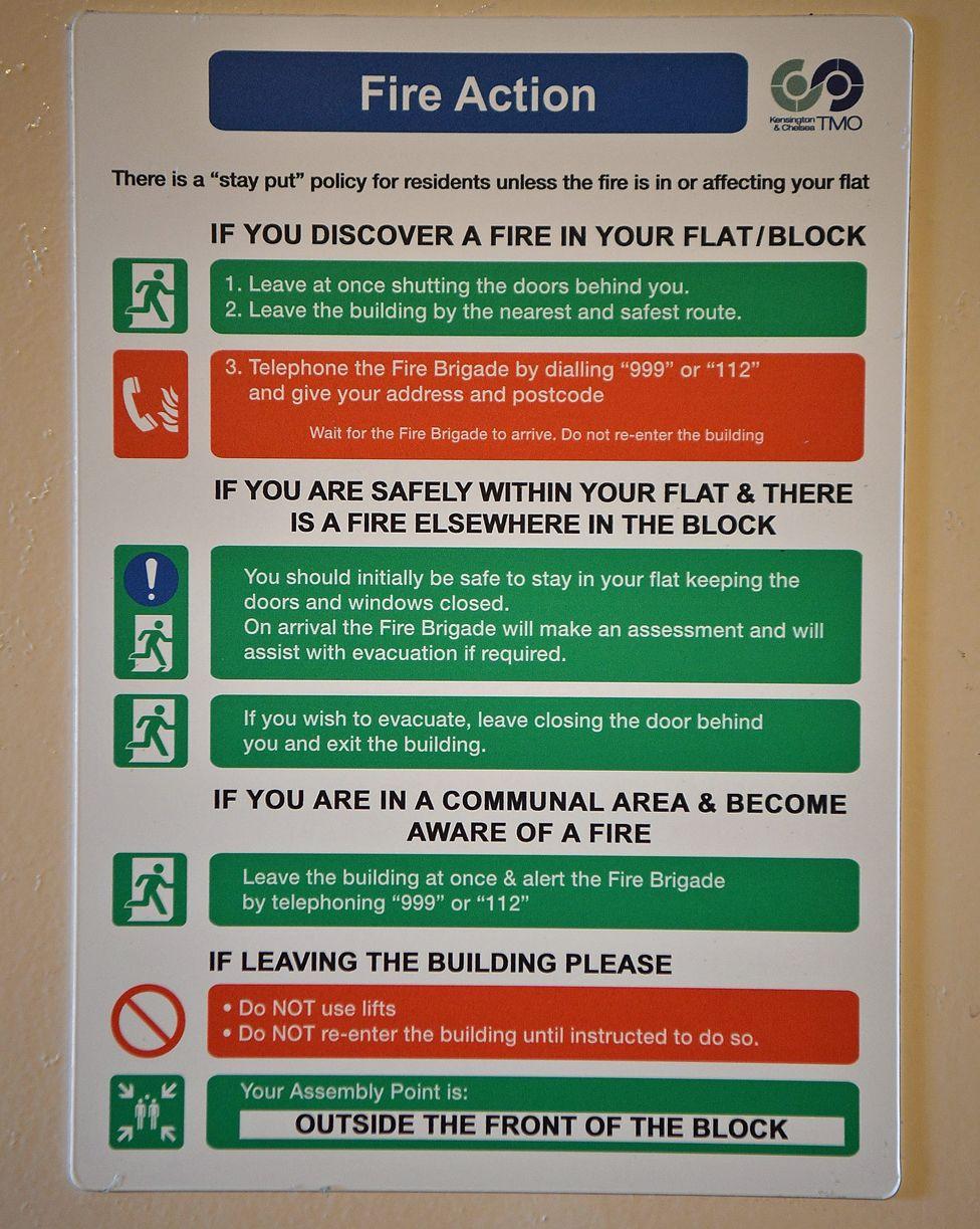Fire safety notice