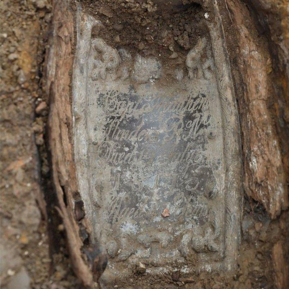 Captain Matthew Flinders' coffin