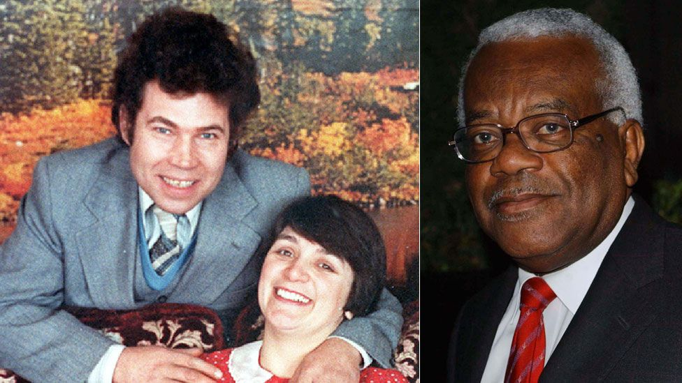 Fred and Rose West and Sir Trevor McDonald