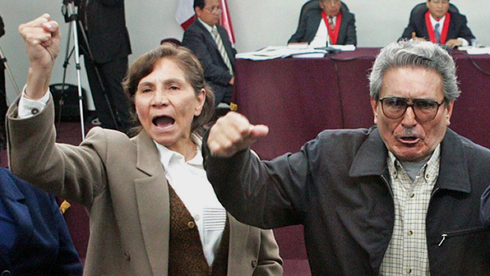 Elena Iparraguirre and Abimael Guzmán were sentenced to life in prison for treason