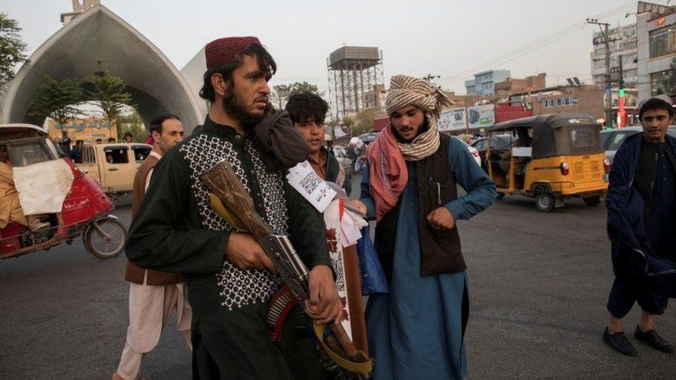 Taliban in Herat (file)