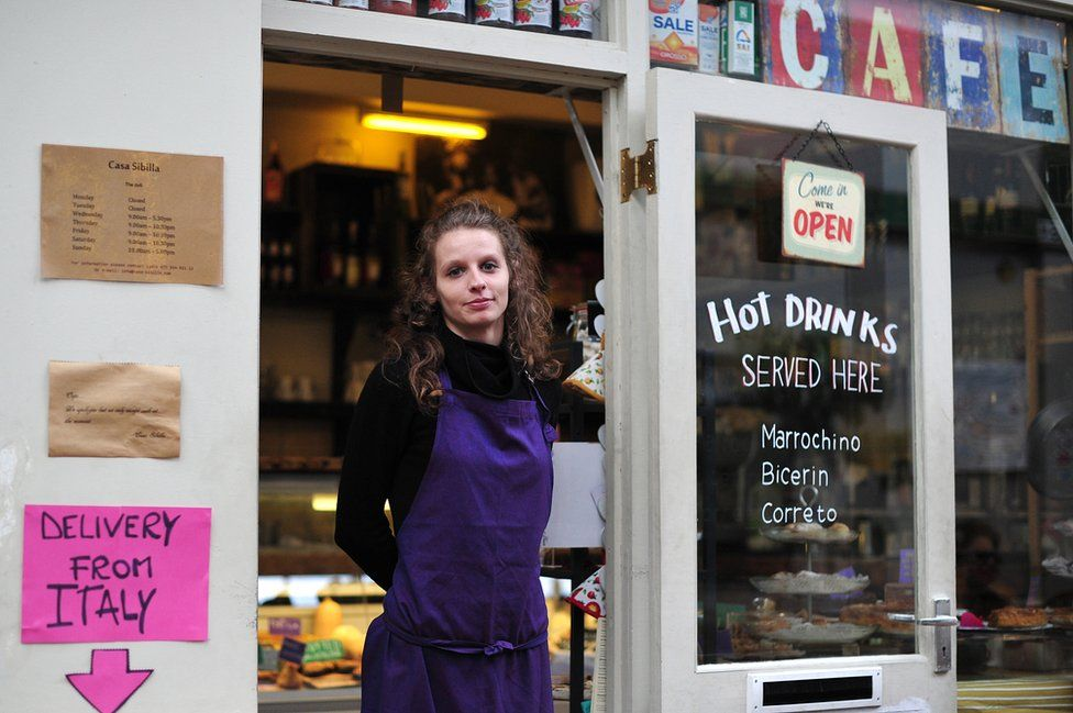Italian delicatessen in London - file pic