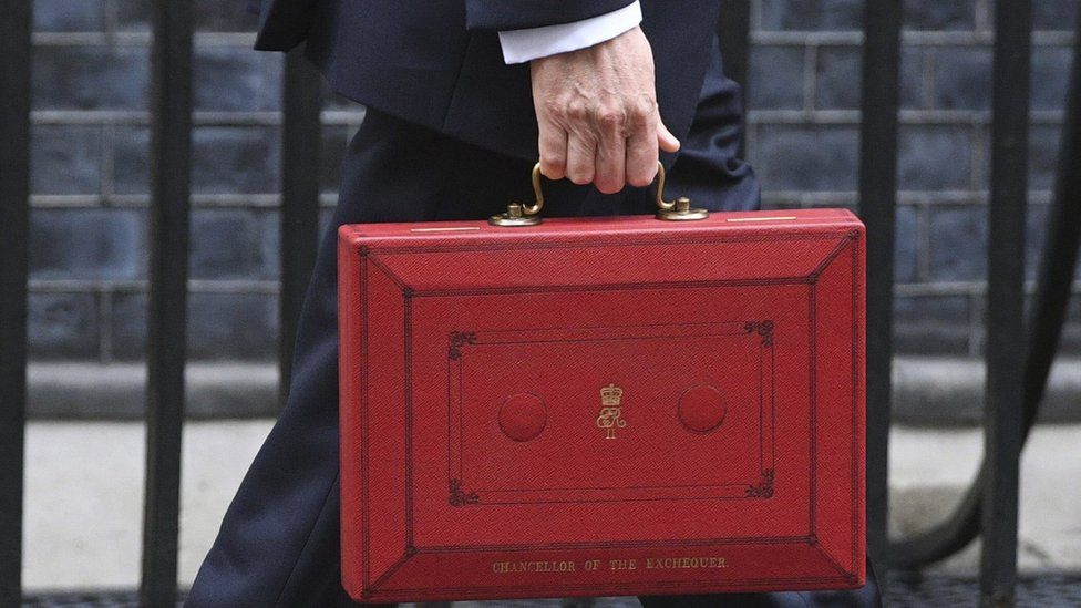 Chancellor's red Budget box
