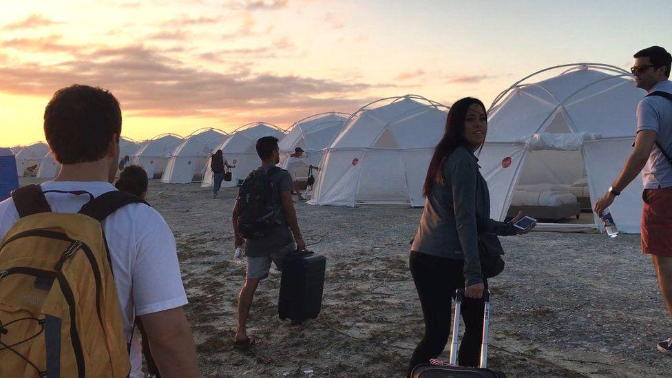 Fyre festival tents