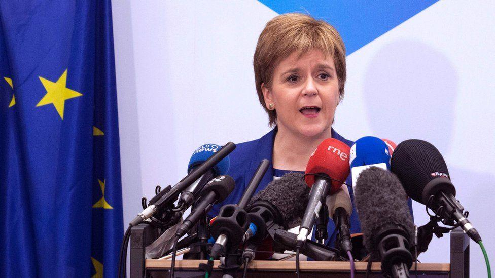 Scotland First Minister Nicola Sturgeon in Brussels, 29 Jun 16