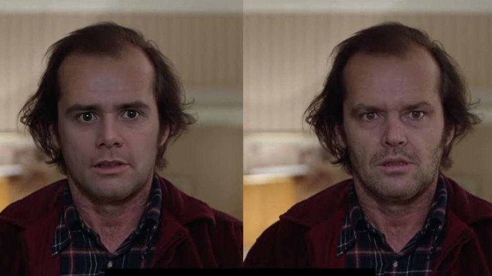 """El impresionante """"deepfake"""" de Jim Carrey imitando a Jack Nicholson (y por qué California prohibió esta tecnología)"""