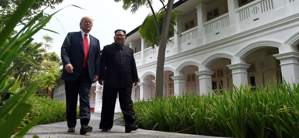 Donald Trump and Kim Jong-un in Singapore (June 2018)