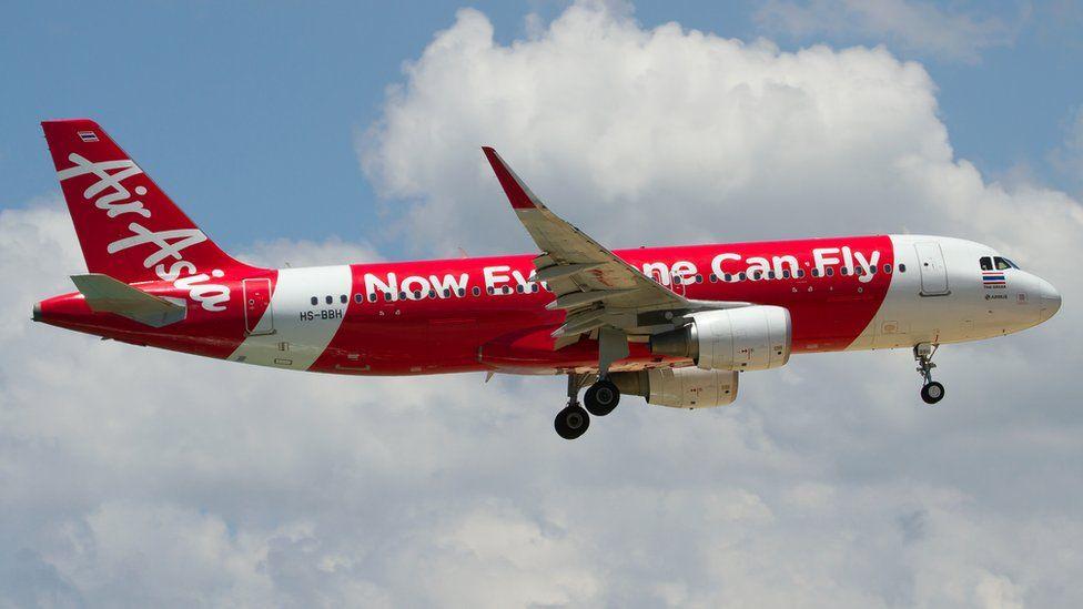 An image of an Air Asia plane