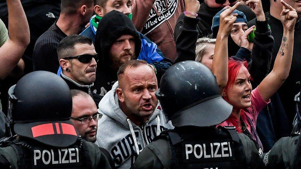 Far-right protesters in Chemnitz