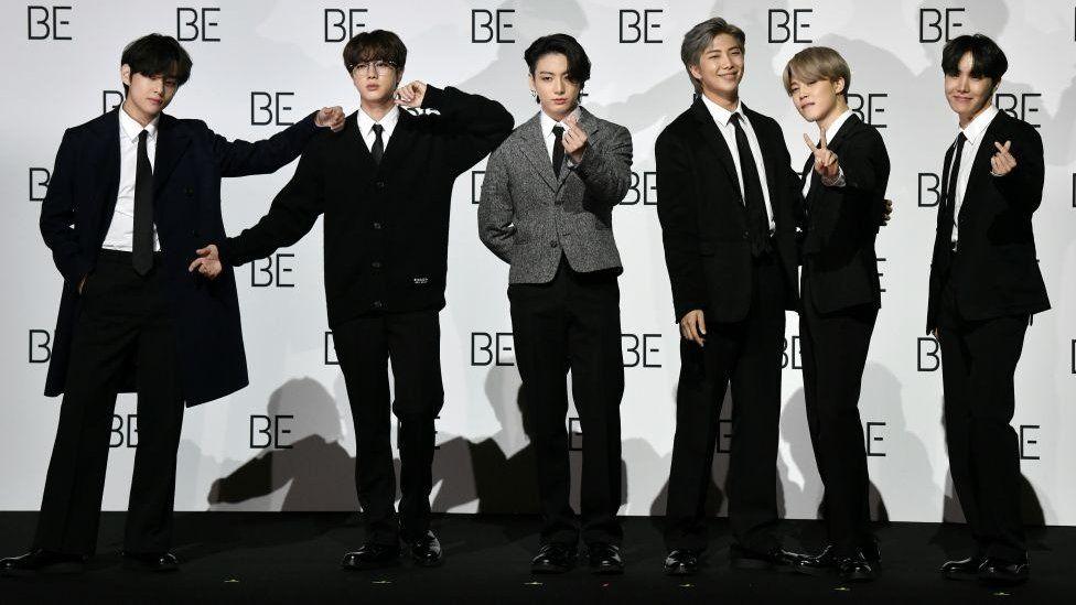 BTS at press event.