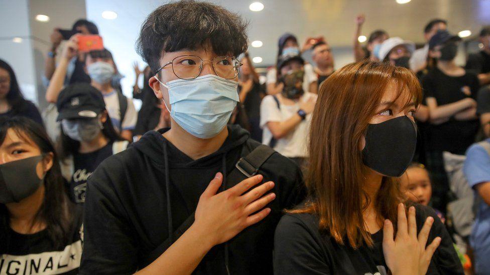 Protesters in Hong Kong, 2 October