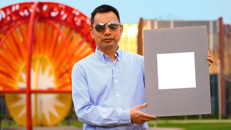 Prof Xiulin Ruan with his whitest ever white paint