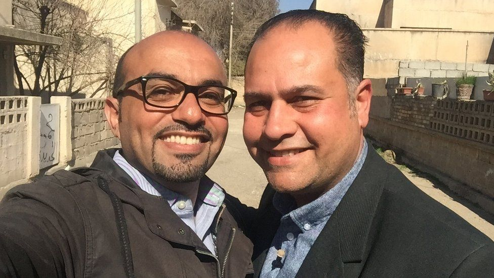 Basheer and his best friend Kareem
