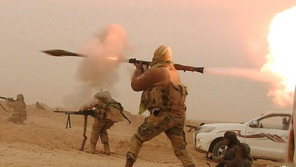 IS fighter with rocket launcher