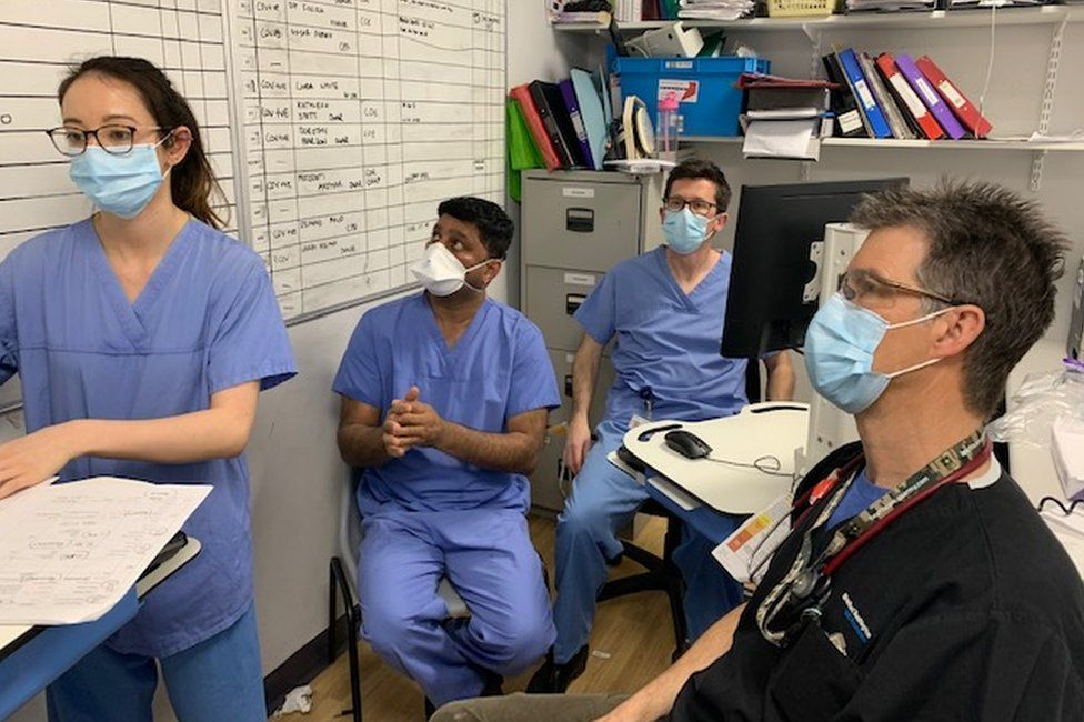 Staff at Bradford Royal Infirmary