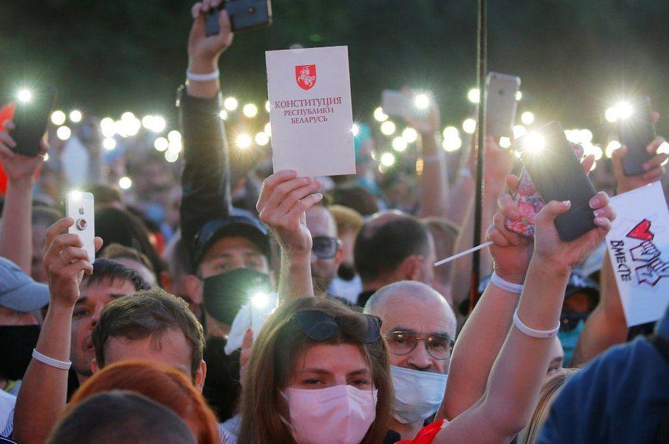 Minsk opposition rally, 30 Jul 20