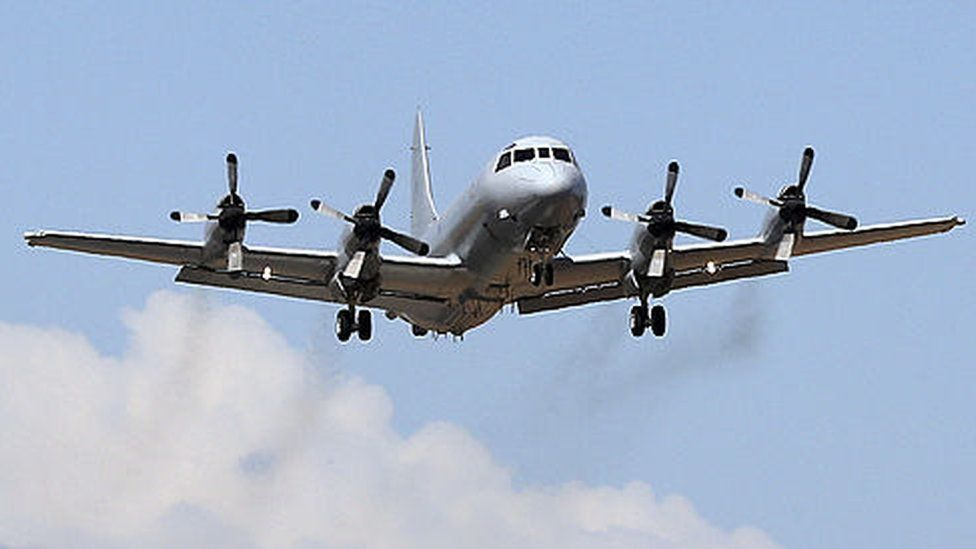 Royal Australian Air Force AP-3C Orion takes off at RAAF Pearce Base