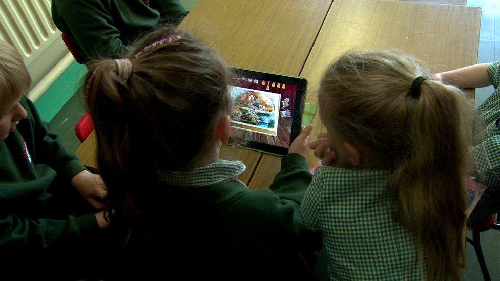 Pupils with iPads