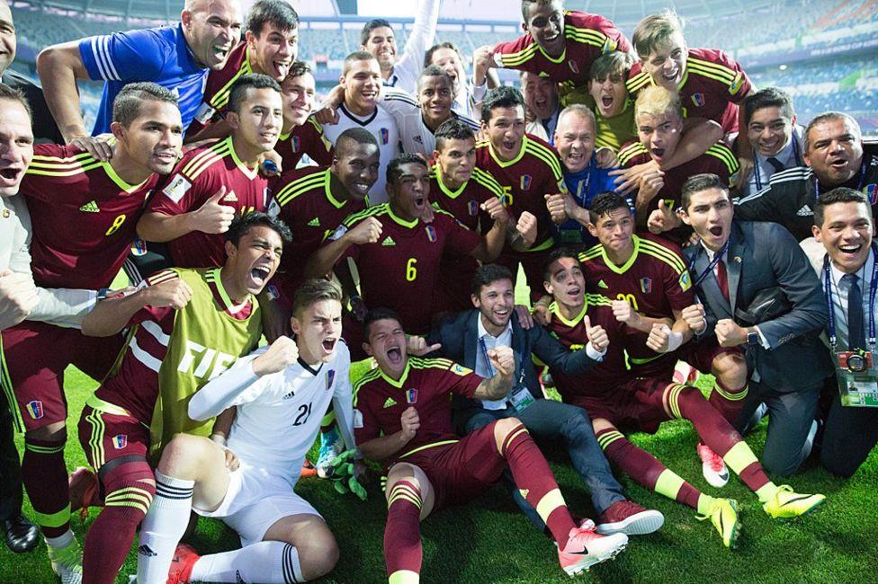Los jugadores de la selección venezolana sub20