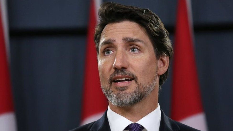 Canadian Prime Minister Justin Trudeau speaks at a news conference in Ottawa. Photo: 9 January 2020
