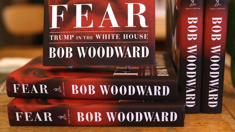 New copies of Fear, an expose on the Trump White House by Bob Woodward