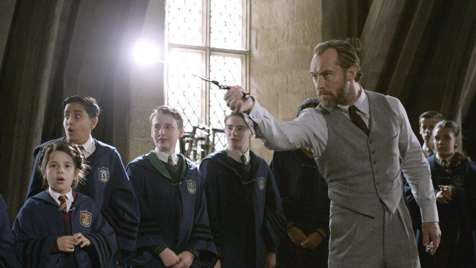 Jude Law as young Dumbledore
