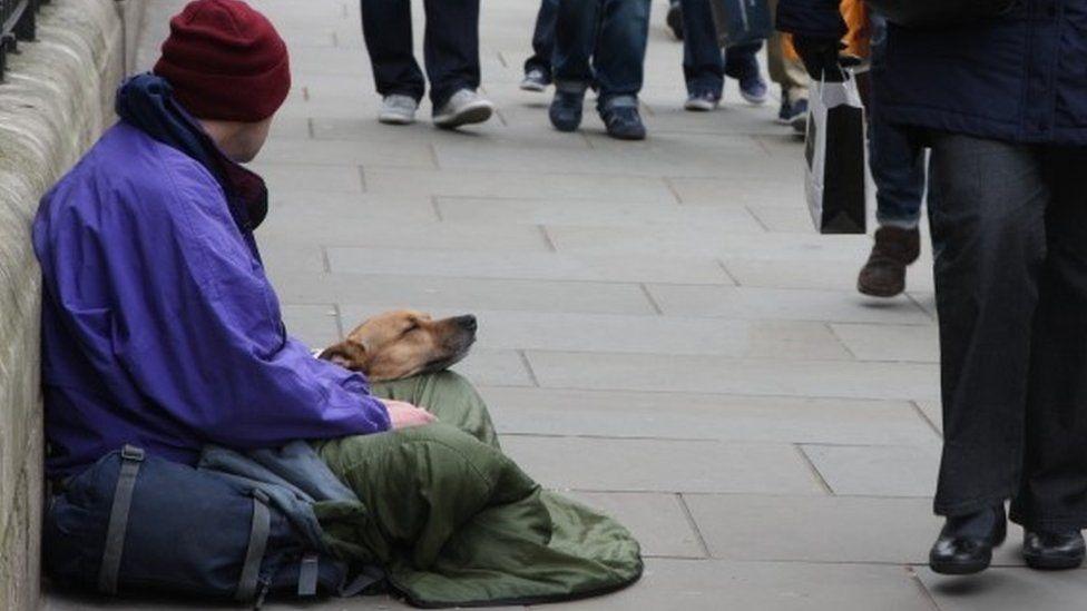 Beggar in London