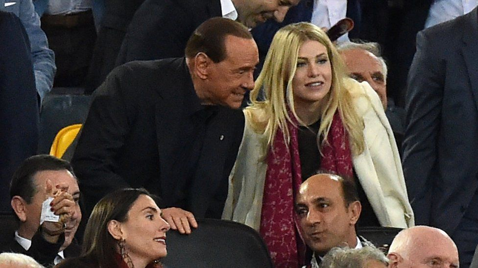 Barbara Berlusconi watches AC Milan with father Silvio